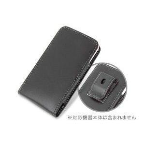 PDAIR レザーケース for P-07C/Sweety SoftBank 003P ベルトクリップ付バーティカルポーチタイプ|visavis