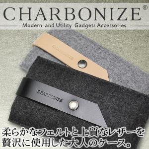 【送料無料】iPhone 6 Plus Charbonize レザー & フェルト ウォレットタイプケース|visavis