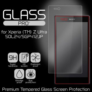 GLASS PRO+ Premium Tempered Glass Screen Protection for Xperia (TM) Z Ultra SOL24/SGP412JP /代引き不可/ ガラス 保護 シート