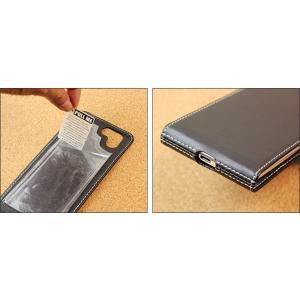 AQUOS R2 SH-03K / SHV42 用 PDAIR レザーケース 縦開きタイプ 【送料無料】 縦型 高級 本革 本皮 ケース レザー ICカード ポケット ホルダー visavis 03