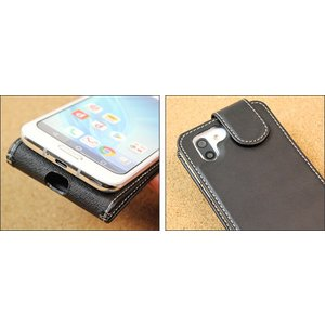 AQUOS R2 SH-03K / SHV42 用 PDAIR レザーケース 縦開きタイプ 【送料無料】 縦型 高級 本革 本皮 ケース レザー ICカード ポケット ホルダー visavis 04
