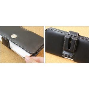 AQUOS R2 SH-03K / SHV42 用 PDAIR レザーケース ポーチタイプ 【送料無料】 ポーチ型 高級 本革 本皮 ケース レザー ベルトクリップ付き|visavis|03