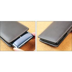 Xperia XZ2 SO-03K / SOV37 用 PDAIR レザーケース ベルトクリップ付バーティカルポーチタイプ 【送料無料】 ポーチ型 エクスペリア エックスゼット2|visavis|03