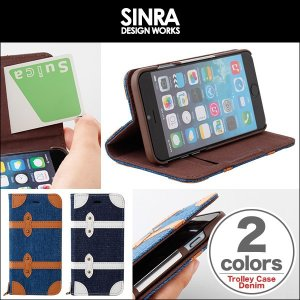 スマホケース 6s/6  用 Sinra Design Works Trolley Case Denim for iPhone 6s/6 ケース 手帳型 横開き iPhone 6s iPhone6 アイフォン6|visavis