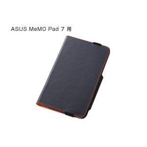 フラップタイプ・レザージャケット(合皮タイプ) for ASUS MeMO Pad 7 (ME176C)(ブラック) /代引き不可/|visavis