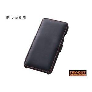 ブックカバータイプ・レザージャケット(合皮タイプ) for iPhone 6(ブラック)