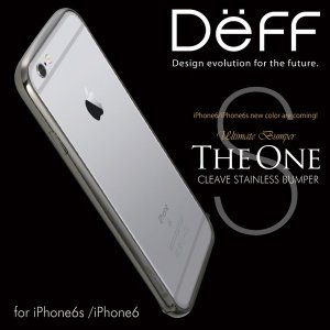 CLEAVE Stainless Bumper The One for iPhone 6s/6 【送料無料】 ディーフ Deff ステンレス|visavis