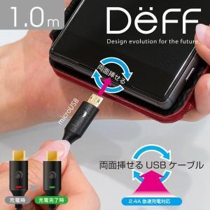 スマホやタブレットに対応した両面挿せる画期的な1.0mのUSBケーブル。USB Aオスとmicro ...