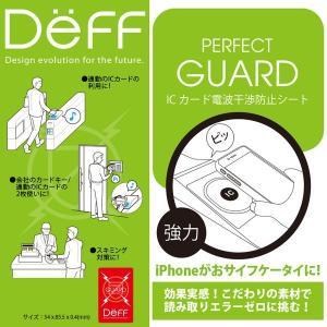Deff ICカード電波干渉防止シート /代引き不可/   ICカード 電波干渉防止 シート スキミング防止 Suica ICOCA|visavis