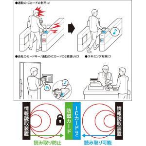 Deff ICカード電波干渉防止シート PERFECT GUARD II /代引き不可/   ICカード 電波干渉防止 シート スキミング防止 Suica ICOCA|visavis|02