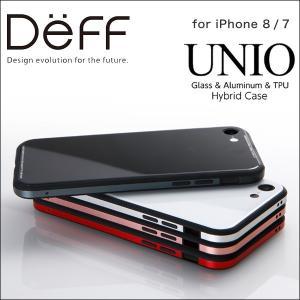iPhone 8 / iPhone 7 用 Glass & Aluminum & TPU Hyblid Case UNIO for iPhone 8 / iPhone 7 【送料無料】 iPhoneケース|visavis