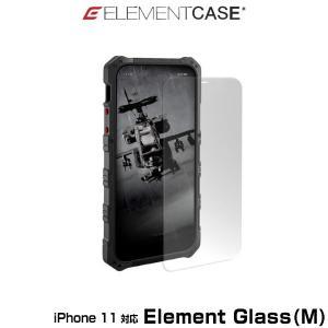 iPhone11 保護ガラス ELEMENT CASE Element Glass(M) for iPhone 11(クリア) 9H高硬度 高透明度 旭硝子製強化ガラス アイフォーン11 エレメントグラス|visavis