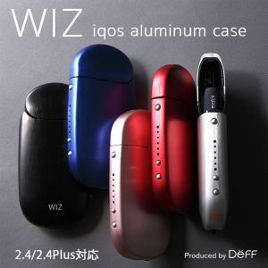 アイコスケース WIZ Aluminum Case for IQOS 2.4/2.4 Plusアイコス ケース アルミ製ケース ストラップホルダー IQOS 2.4 Plus 工具も不要|visavis