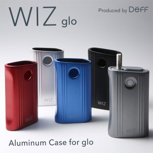 WIZ Aluminum Case for glo 加熱式タバコ 加熱式たばこ 電子 たばこ タバコ カバー ジャケット アルミ製 ケース ディーフ|visavis