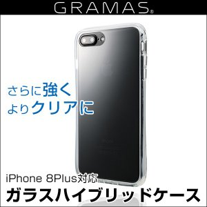 スマホケース GRAMAS COLORS Glass Hybrid Clear Case CHC-50227CLR for iPhone 8 Plus / 7 Plus / 6s Plus / 6 Plus ガラスハイブリッドケース|visavis