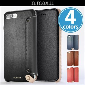 iPhone 8 Plus / iPhone 7 Plus 用  n.max.n New Minimalist Series 本革縫製ケース (Book型)タイプ for iPhone 8 Plus / iPhone 7 Plus / 本革|visavis