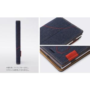 スマホケース Zenus Denim Stitch Diary for Xperia XZ1 SO-01K / SOV36 【送料無料】手帳型 ケース 天然ヌバックレザー visavis 03