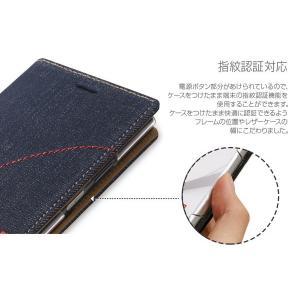 スマホケース Zenus Denim Stitch Diary for Xperia XZ1 SO-01K / SOV36 【送料無料】手帳型 ケース 天然ヌバックレザー visavis 05