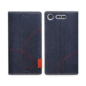 スマホケース Zenus Denim Stitch Diary for Xperia XZ1 SO-01K / SOV36 【送料無料】手帳型 ケース 天然ヌバックレザー visavis 06