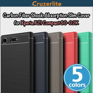 Xperia XZ1 Compact SO-02K 用  Cruzerlite Carbon Fiber Shock Absorption Slim Cover for Xperia XZ1 Compact SO-02K /代引き不可/ カーボン模様|visavis