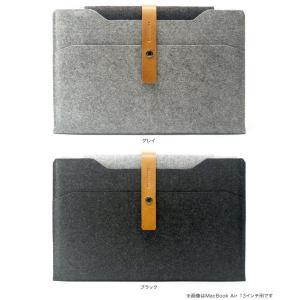 Charbonize レザー & フェルト ケース for MacBook Air 11インチ(Early 2015/Early 2014/Mid 2013/Mid 2012/Mid 2011/Late 2010)(スリーブタイプ) visavis 02