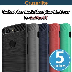 OnePlus 5T 用 Cruzerlite Carbon Fiber Shock Absorption Slim Cover for OnePlus 5T /代引き不可/ カーボン模様|visavis