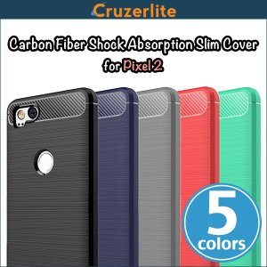 Pixel 2 用  Cruzerlite Carbon Fiber Shock Absorption Slim Cover for Pixel 2 /代引き不可/ カーボン模様|visavis