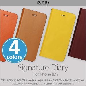 スマホケース Phone 8 / iPhone 7 用 Zenus Signature Diary Phone 8 / iPhone 7 【送料無料】 ストラップ 手帳型ケース 手帳 ダイアリー|visavis