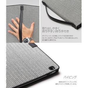 Zenus Herringbone Diary for iPad Pro 12.9インチ 【送料無料】 ケース 合成皮革 iPad カバー|visavis|05