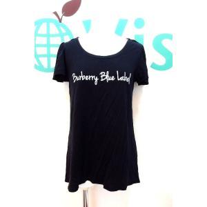 BURBERRY BLUE LABEL バーバリーブルーレーベル 【商品名】ロゴプリント 半袖カット...