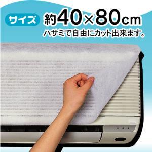 エアコンフィルター1枚入 エアコンに貼るだけでホコリや花粉をキャッチ 15030014|vita-spugna