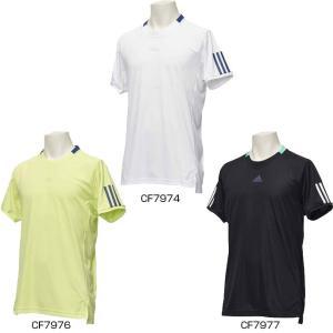 アディダス メンズ ベース 3ストライプ Tシャツ BASE 3STRIPE T-SHI テニス バドミントンウェア DRS10...