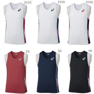 アシックス メンズ 陸上 ジョギング マラソン ランニング ウェア ノースリーブ タンクトップシャツ XT1041