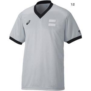 アシックス メンズ レフリーシャツ Vネック バスケットボールウェア 審判シャツ 半袖 JBA XB8003 vitaliser