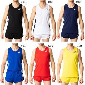アシックス メンズ M'Sランニングシャツ ジョギング マラソン ランニング トップス 陸上競技ウェア ノースリーブシャツ 2091A124|vitaliser