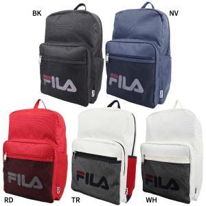 18L フィラ メンズ レディース メッシュポケット リュック リュックサック デイパック バックパック バッグ 鞄 軽量 通勤 通学 大容量 ロゴ FL-0002|vitaliser