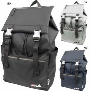フィラ メンズ レディース フラップリュック リュックサック デイパック バックパック バッグ 鞄 かぶせ 軽量 通勤 通学 大容量 ロゴ FL-0004|vitaliser