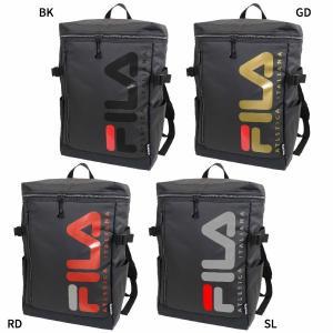 フィラ メンズ レディース スクエアリュック リュックサック デイパック バックパック バッグ 鞄 撥水 大容量 ボックス型 スクエア型 FL-0005|vitaliser