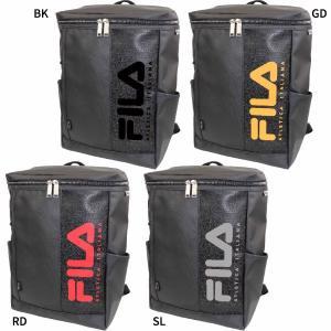 フィラ メンズ レディース スクエアリュック リュックサック デイパック バックパック バッグ 鞄 撥水 大容量 ボックス型 スクエア型 FL-0006|vitaliser