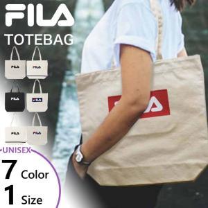 フィラ メンズ レディース 帆布トートバッグ ロゴ バッグ 鞄 肩掛け キャンバス 軽量 通勤通学 サブバッグ エコバッグ FL-0013|vitaliser