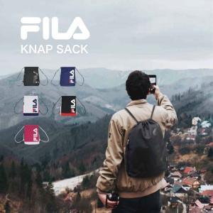 フィラ メンズ レディース ナップサック ロゴ リュックサック バッグ 鞄 サブバッグ 巾着 ジムバッグ ポーチ 軽量 通学 部活 FL-0015|vitaliser