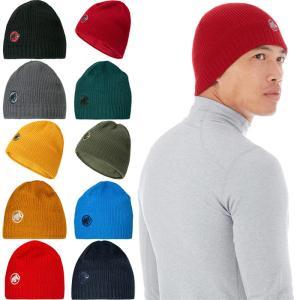 マムート メンズ サブライム ビーニー Sublime Beanie ロゴ 帽子 ニット帽 アウトドア 登山 保温 1191-01542|vitaliser