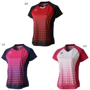 ミズノ レディース ゲームシャツ テニス バドミントンウェア 半袖 72MA7202