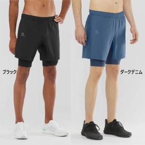 サロモン メンズ アジャイル ショートパンツ AGILE TWINSKIN SHORT M ジョギング マラソン ランニング ウェア ボトムス 登山 トレイルランニング vitaliser