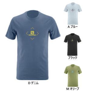 サロモン メンズ コットン ロゴT COTON LOGO SS TEE M 半袖Tシャツ トップス LC1407600 LC1407800 LC1407900 LC1408100 vitaliser
