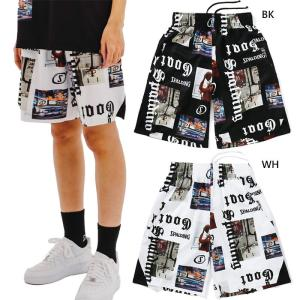 スポルディング メンズ レディース 布帛パンツ ストリートゴート バスケットボールウェア バスパン ボトムス ハーフパンツ SMP210220 vitaliser