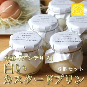 プリン 白いカスタードプリン 6個セット カスタード 白い おたる アンデリス|vitaminshop-anzendo
