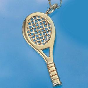 コートキーパー COURTKEEPER テニスジュエリー ゴールドラケットペンダント CK10KP9 送料無料 プレゼント好適品|viva-t