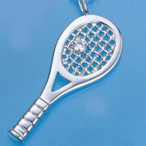 コートキーパー COURTKEEPER テニスジュエリー ラケットペンダント ジルコニア付き CKSP10 送料無料 プレゼント好適品|viva-t
