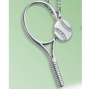 コートキーパー COURTKEEPER テニスジュエリー ラケットペンダント CKSP19B 送料無料 プレゼント好適品|viva-t